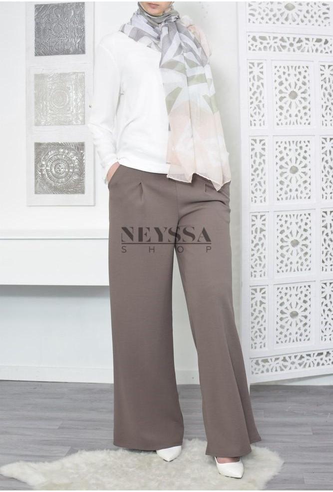 Pantalon large modeste fashion