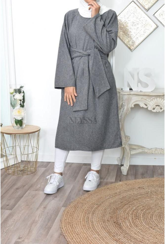 Robe tunqiue hiver femme voilée