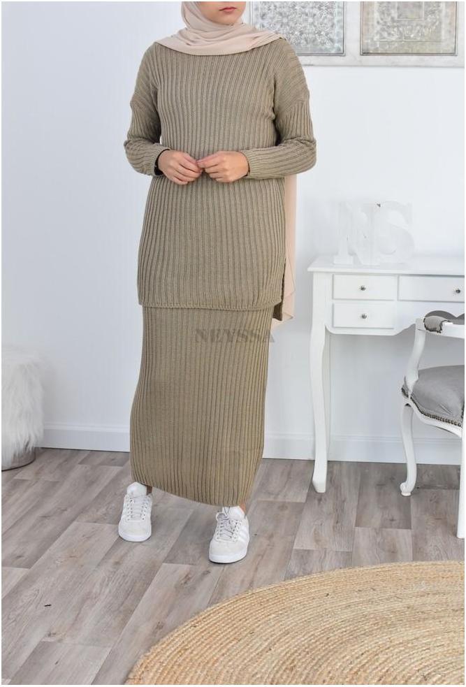 Ensemble tricot modest fashion pas cher