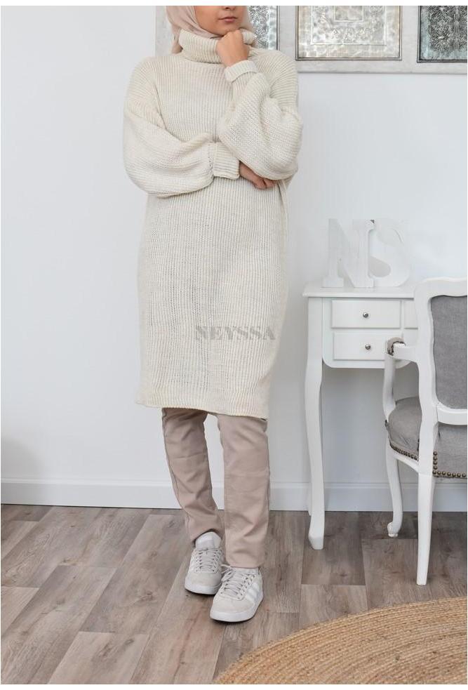 Maxi sweater veiled women