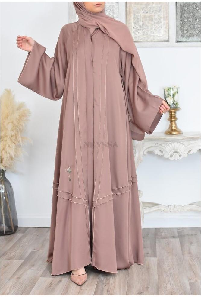 very long Saoudi Abaya Umbrella nude