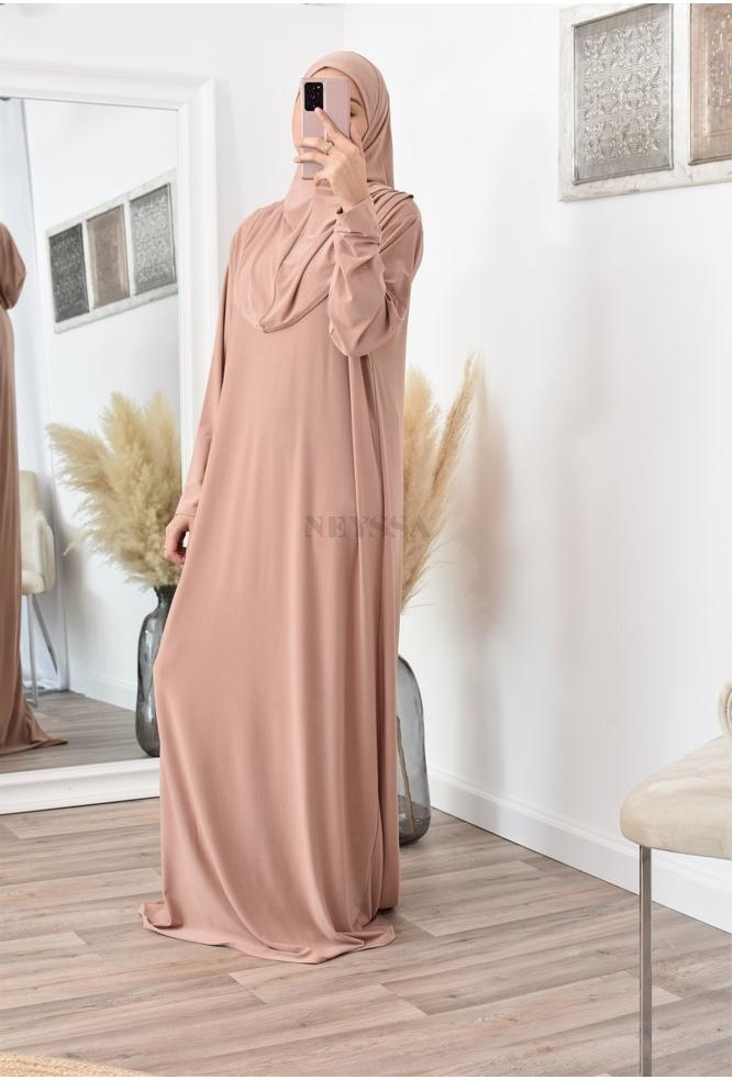 Integrated women's hijab prayer dress
