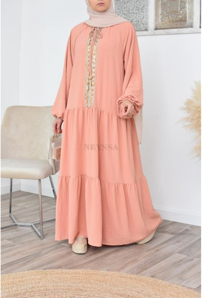 Robe longue bohème pour femme hijab