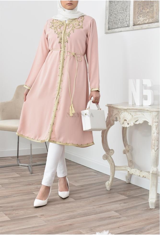 Tunic caftan inspiration Moroccan Pink