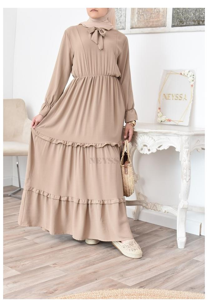 Robe bohème chic et ample pour été femme musulmane