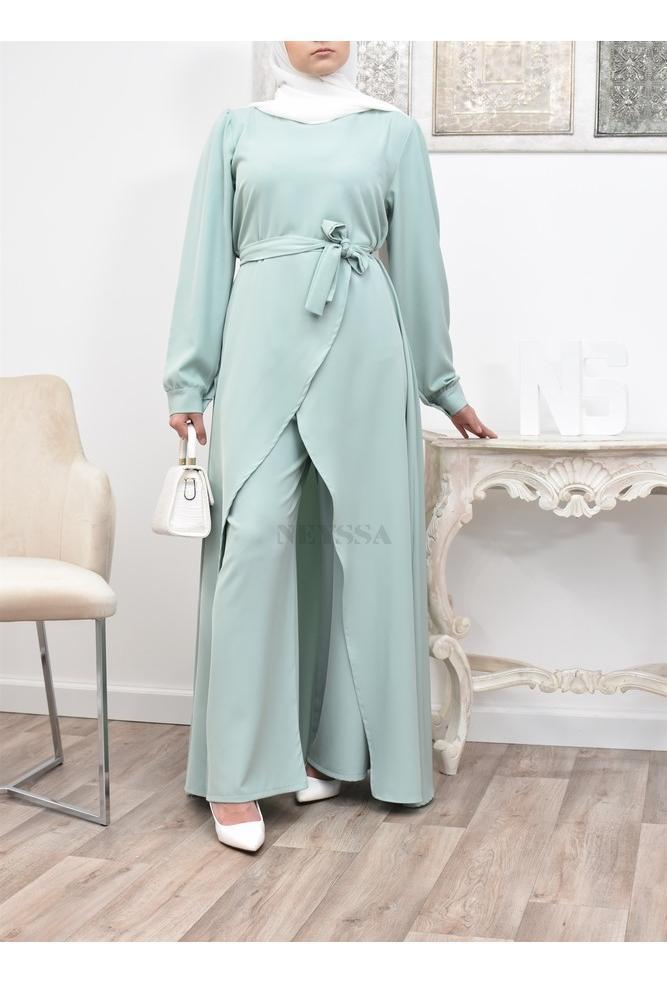 Veiled Frau lange Outfit für Eid und Hochzeit