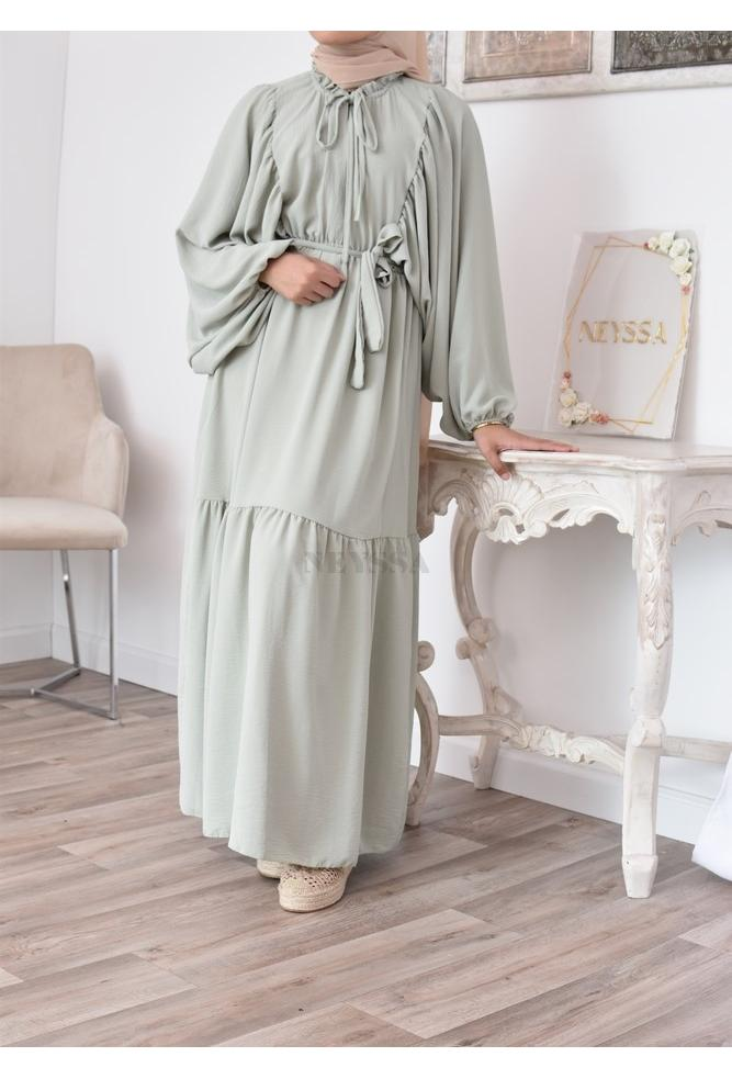 Bohemian dress for veiled women modest fashion
