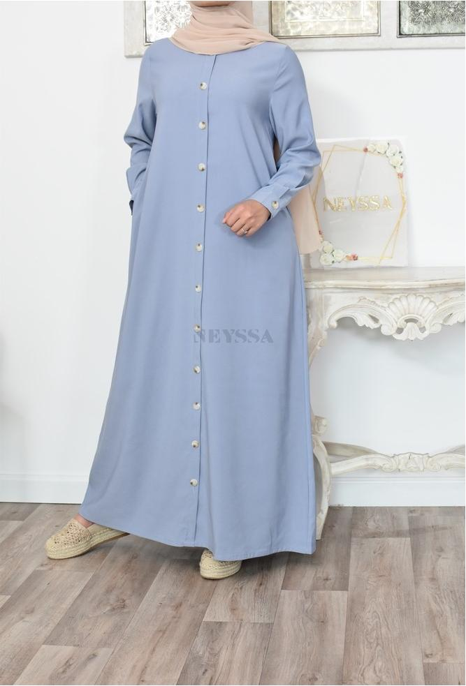 Loose-fitting button-down dress Modest fashion inspired for Muslim women