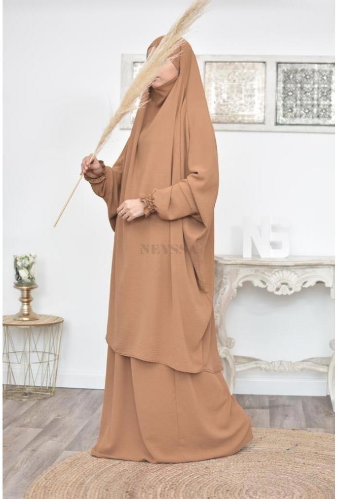 Trumpet sleeve Jilbab set