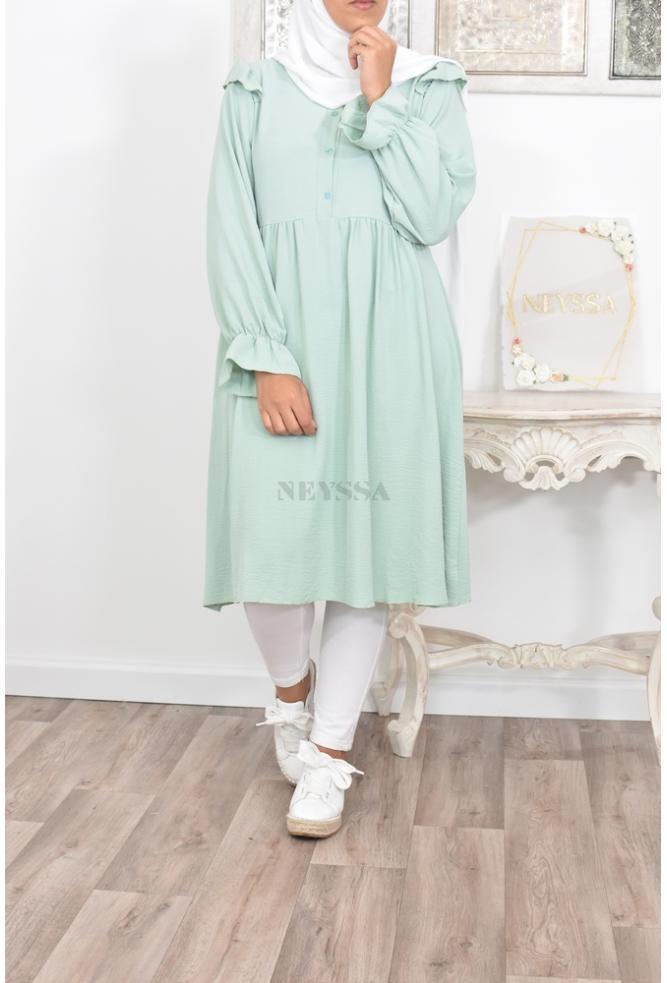 Tunique longue femme modeste hijab