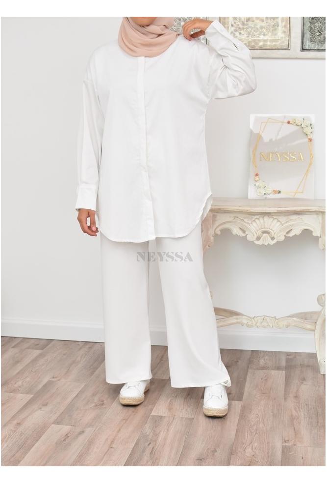 Chemise longue coton pas cher