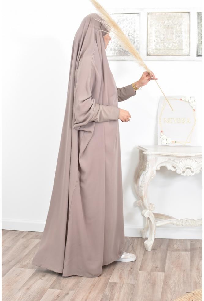 Jilbab manches lycra en microfibre wool peach