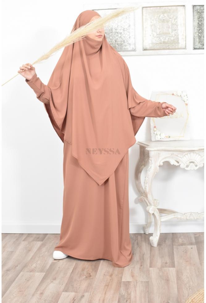 Tenue de prière femme hijab intégré NADAH