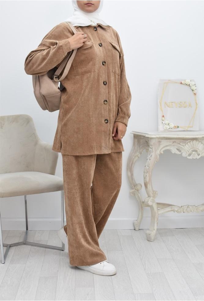 Women's modest fashion palazzo set